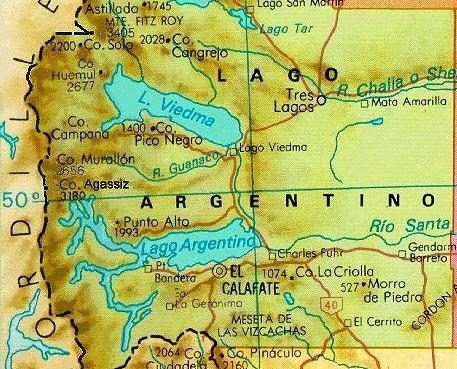 Images Of Patagonia >> Mapa región de El Calafate, Província de Santa Cruz, Patag… | Flickr