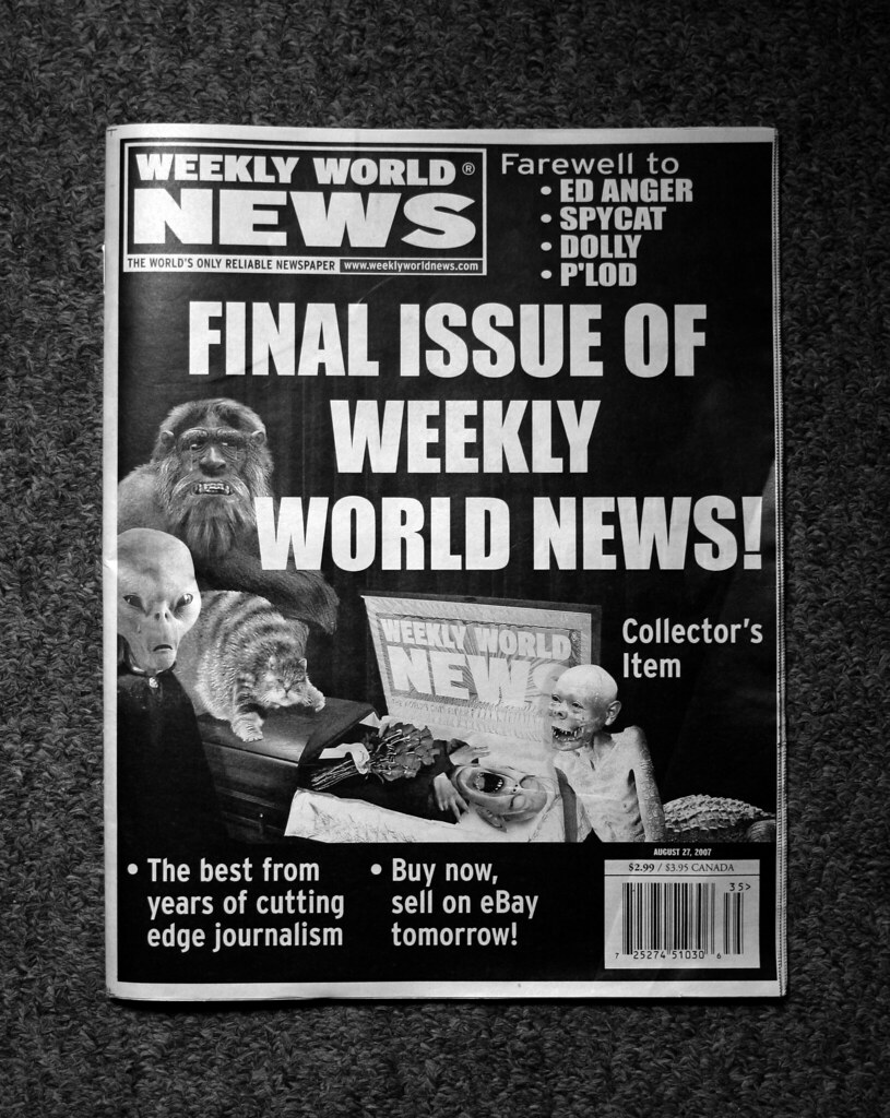 Weekly World News Final Issue | Oliver Oike