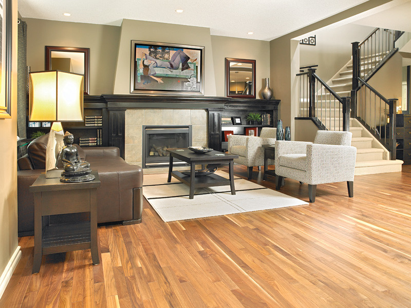 Mirage american walnut natural living room with a for Decoration maison walmart