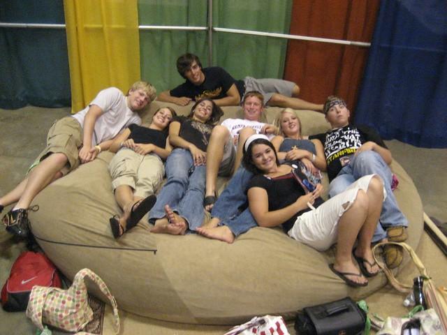 Huge Bean Bag Chair LoveSac Love Sac Comfy Sack Fombag ...