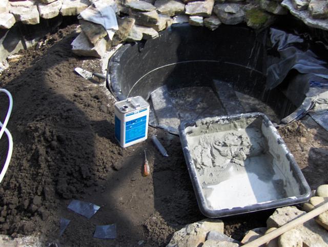 Koi villa installs round pond from a 1500 gallon pond for 1500 gallon koi pond