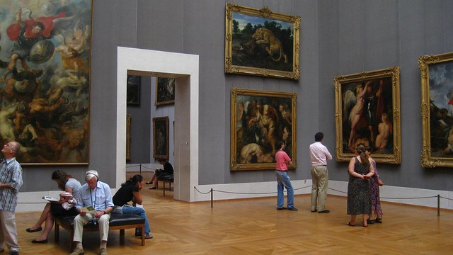 People Looking at Art   Alte Pinakothek Art Museum ...