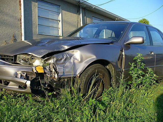 crashed wrecked car columbus oh lorianne disabato flickr. Black Bedroom Furniture Sets. Home Design Ideas