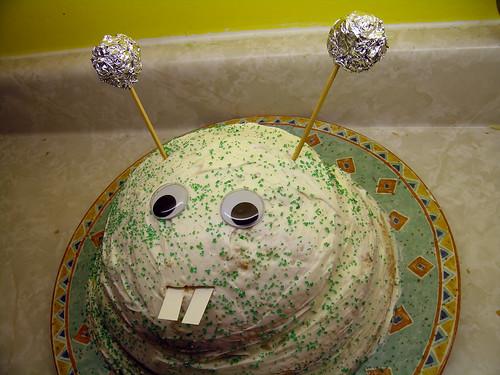 Space Monster Cake