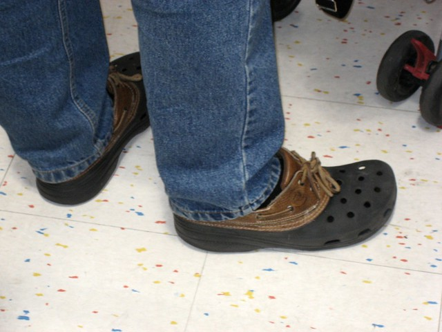 Crocs are the ugliest shoes ever.