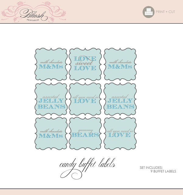 Printable Candy Buffet Tags/Signs | Printable Buffet ...