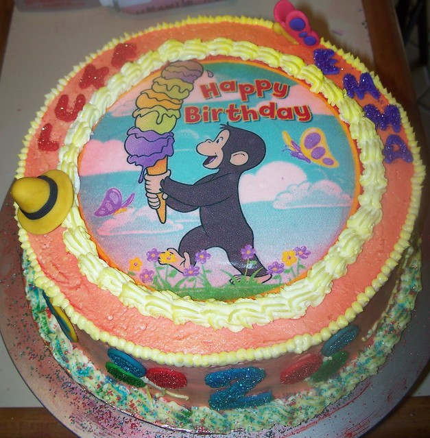 Edible Cake Images Curious George : Curious George Edible Picture Birthday Cake Flickr ...