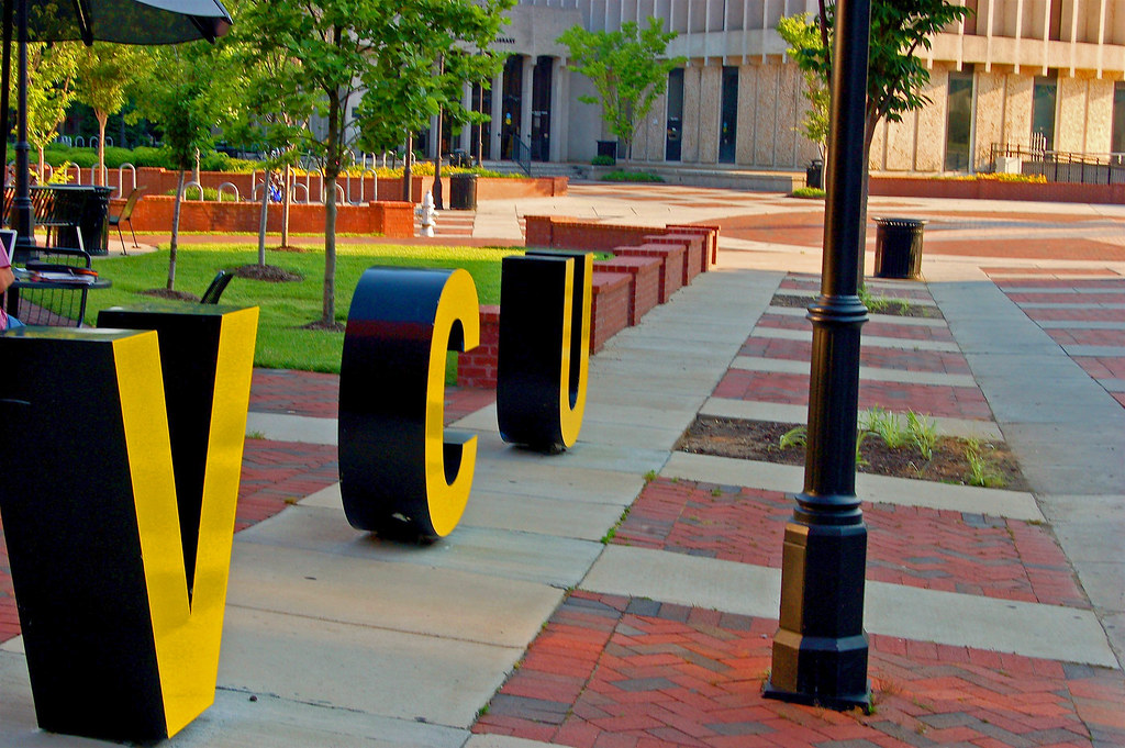 VCU in Big Letters on Shafer Court   VCU Monroe Park ...