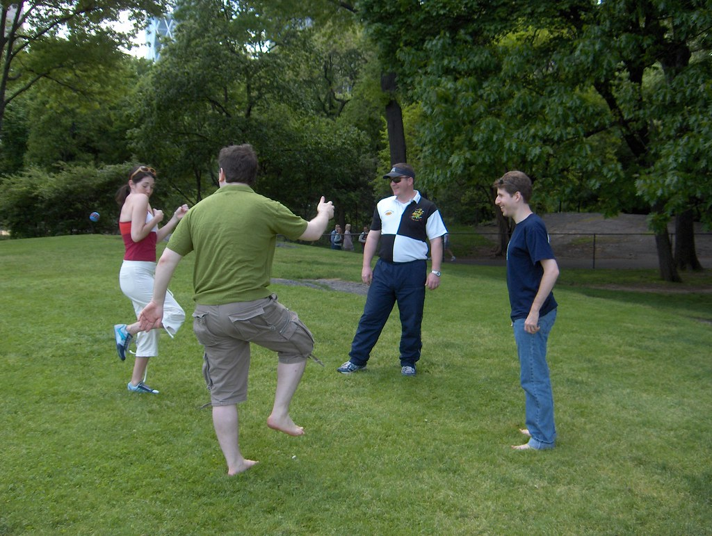 Hacky Sack   Playing h...