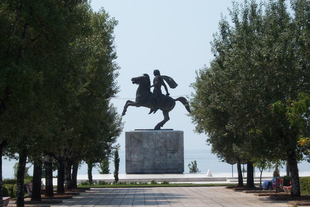 Alexander The Great Statue In Thessaloniki 2007 Paul