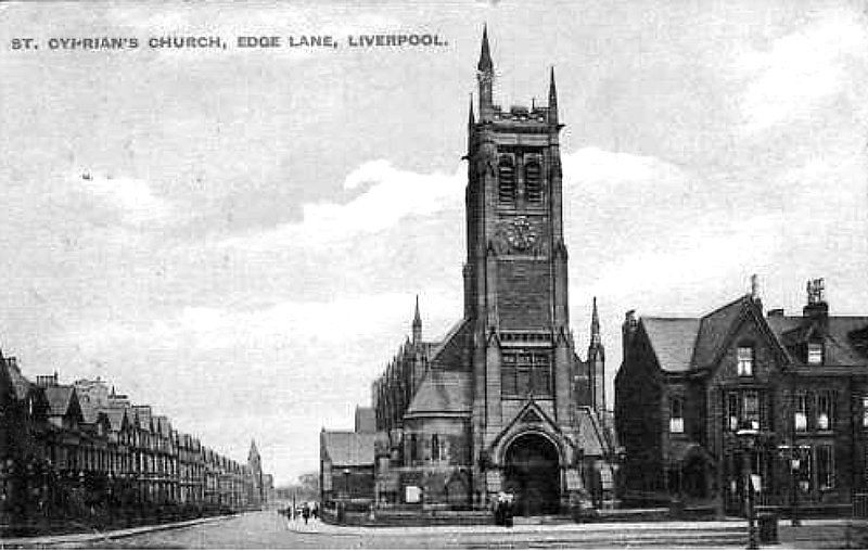 Liverpool C 1900s Postcard St Cyprian S Church Edge Lan