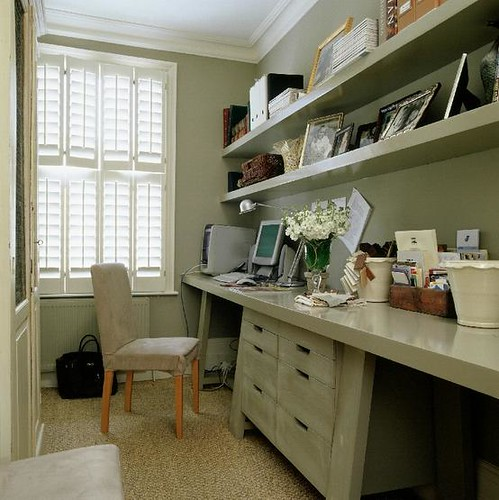 Study Room Ideas Home: Built In Desk Floating Shelves