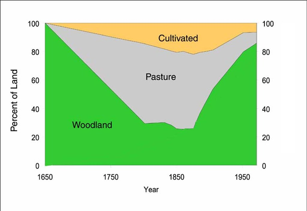 Changes in land use pattern