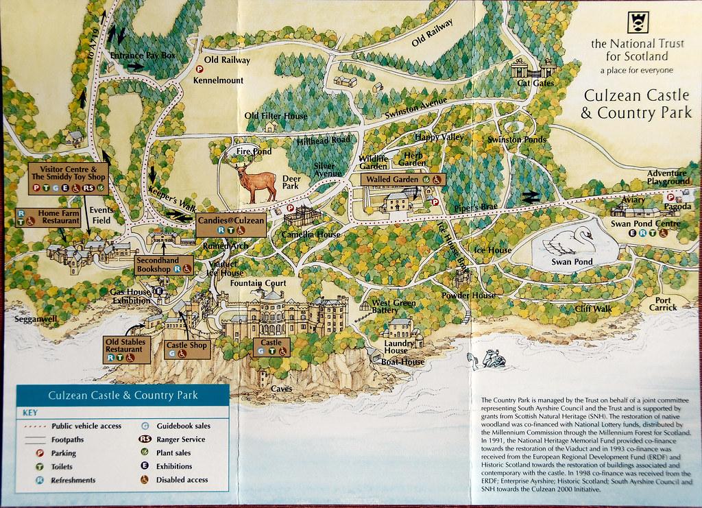 Culzean Castle & Country Park Map   Culzean Castle