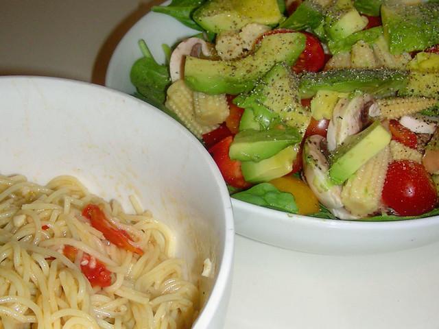 Angel Hair Pasta Salad Pasta With Olive Oil Garlic