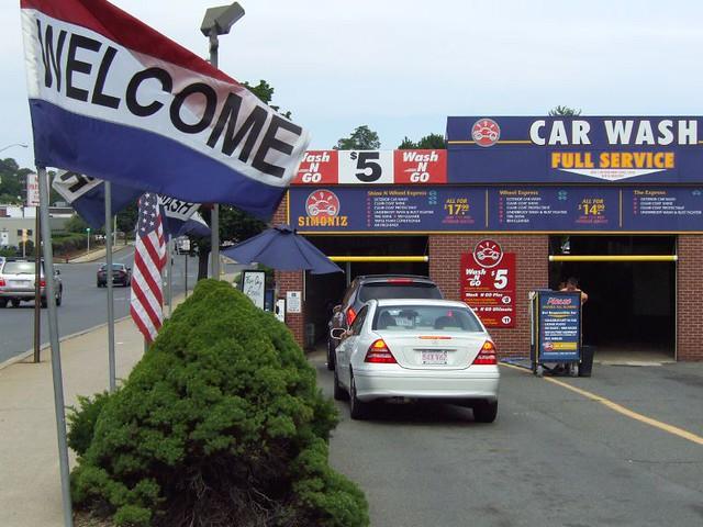 Dscf4244a Car Wash Entrance With Welcome Flag Denizen8 Flickr