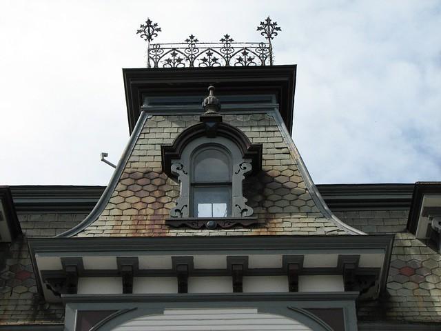 Justin Batcheller Residence 1877 Mansard Roof Detail