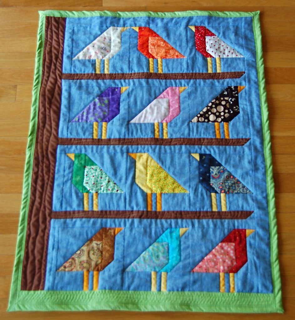 "Patterns Gallery: Baby Quilt: ""Adelaide's Birds"""