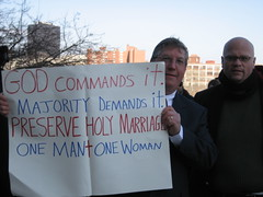 Gay Marriage opposing rallies @ the Capitol | by WNPR - Connecticut Public Radio