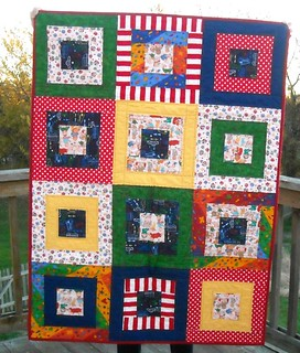 primary color charity quilt | by vickivictoria