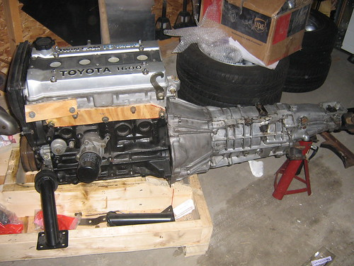 White Land Rover >> Toyota 4AGE Engine and T-50 Gearbox together | Attached my ...