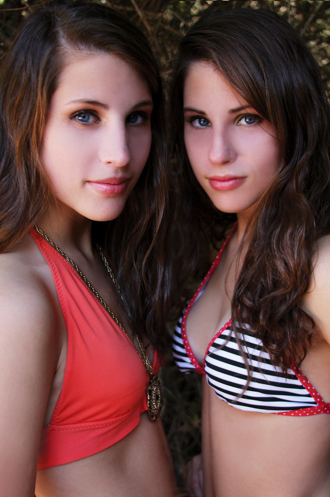 Florida Twins | IN their hot little bikinis. Annie is on the… | Katy ...