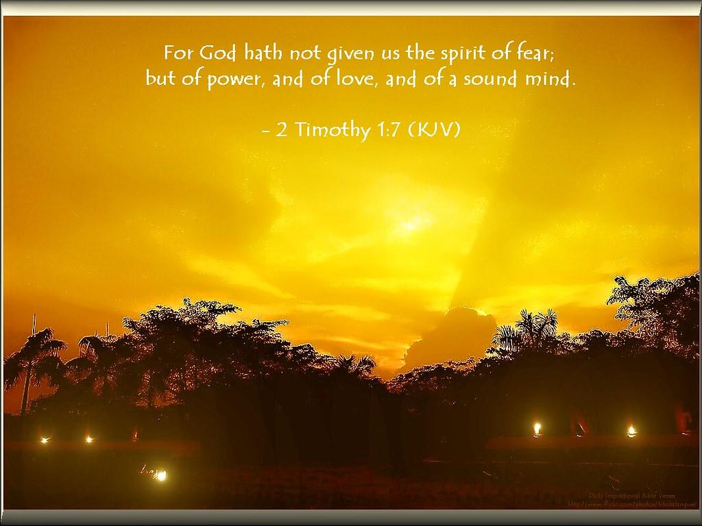 43 daily inspirational bible verse 2 timothy 1 7 kjv