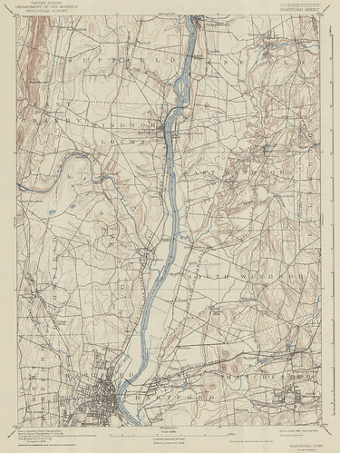 Hartford Sheet 1892 - USGS Topographic Map 1:62,500 | by uconnlibrariesmagic
