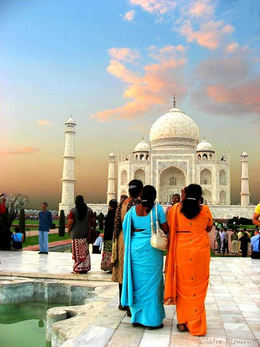Colors of Taj.  Agra | by Claire Pismont