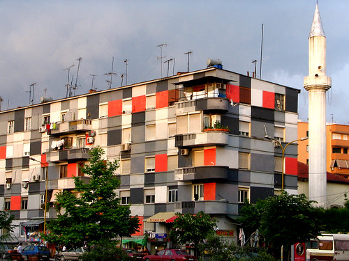 The colourful apartment buildings of Tirana | by davduf