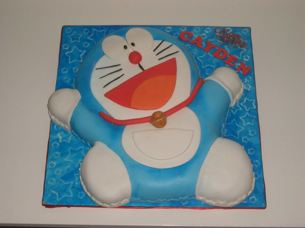 Dora Cake Recipe In English: Doraemon II Cake