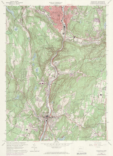Naugatuck Quadrangle 1972 - USGS Topographic Map 1:24,000 | by uconnlibrariesmagic