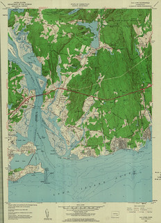 Old Lyme Quadrangle 1958 - USGS Topographic Map 1:24,000 | by uconnlibrariesmagic