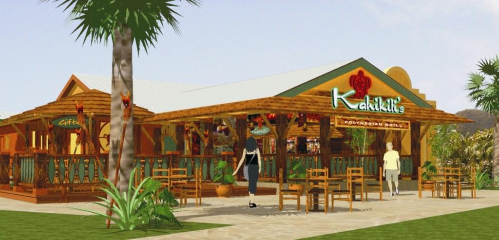 Exterior restaurant design polynesian grill exterior r flickr for 5 star restaurant exterior
