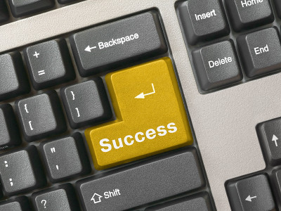 Keyboard - golden key Success | by csitscenter