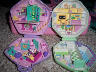 Polly Pocket's Compacts opened original | by skybluecrayons