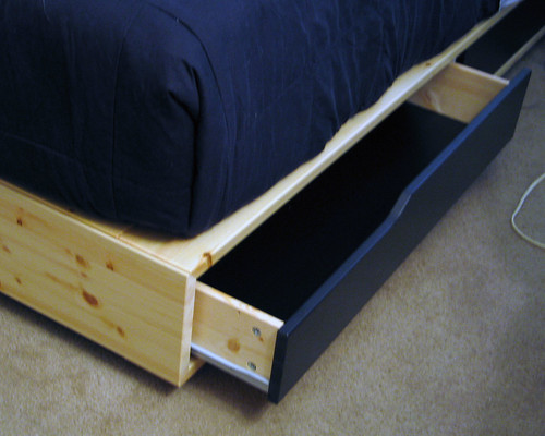 Ikea mandal bed flickr photo sharing - Cajones de madera ikea ...