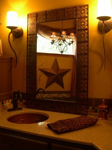 Rustic master bathroom this is our master bathroom for Texas decorations for the home
