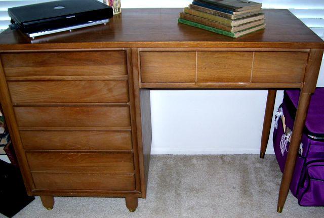 Need Info | By DuctTapeAndDenim 1961 L A Period Furniture Desk ? Need Info  | By DuctTapeAndDenim