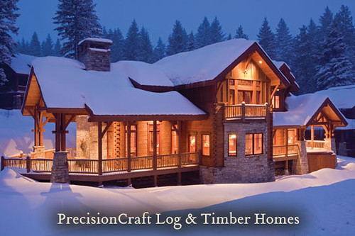 Eagle's Nest | Milled Log & Timber Frame Home | PrecisionC… | Flickr