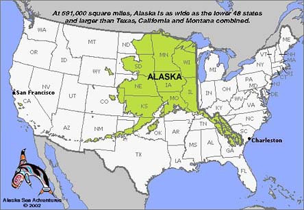 Alaska Usa Map A Comparison Map Low Resolution I Found Flickr - Map of alaska usa
