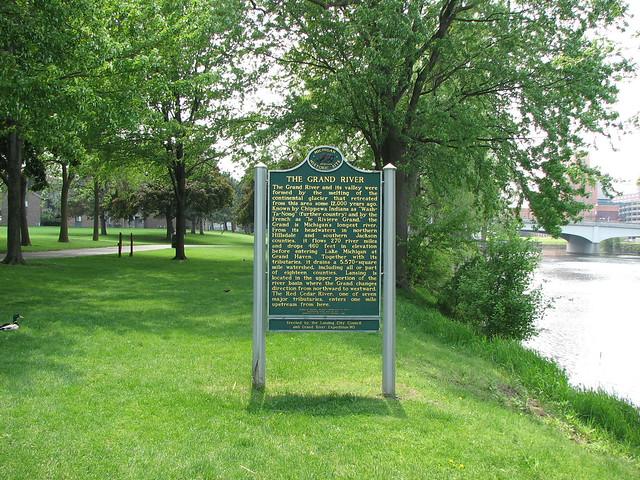 Lansing Michigan Grand River Historical Marker Flickr Photo Sharing