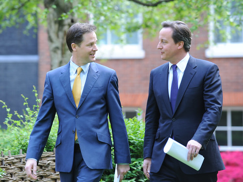 David Cameron and Nick Clegg | by The Prime Minister's Office
