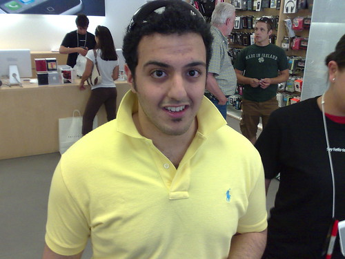 Abdul Tarbzouni, right before Apple employee asked us to stop taking photos of each other | by Robert Scoble