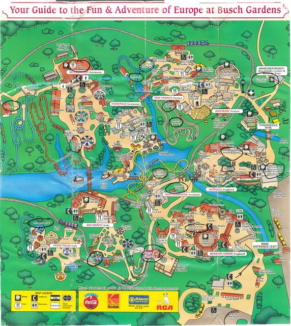 scrapbook32page31stitched The full map of Busch Gardens Flickr