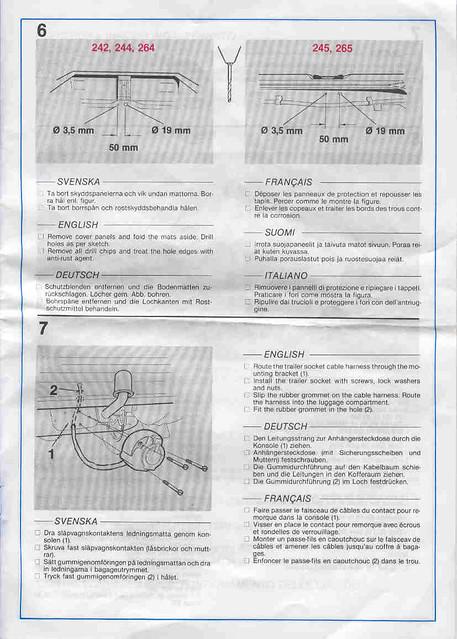 volvo 240 trailer hitch wiring instructions page 4 flickr rh flickr com