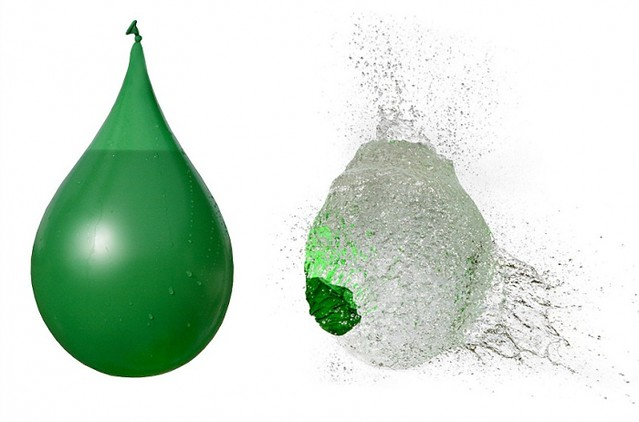 Stop action water balloon popping freelancetwins flickr for Fun things to do with water balloons