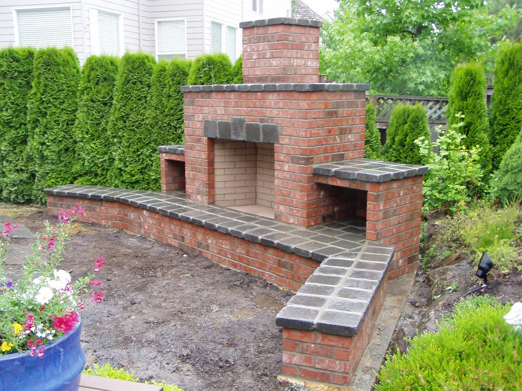 outdoor brick fireplace baker masonry llc 503 539 6792 flickr