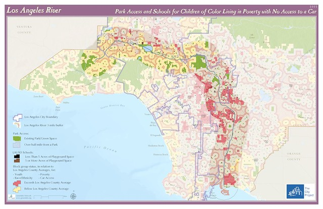 Los Angeles River Park Access And Schools For Childre Flickr - Los angeles river map