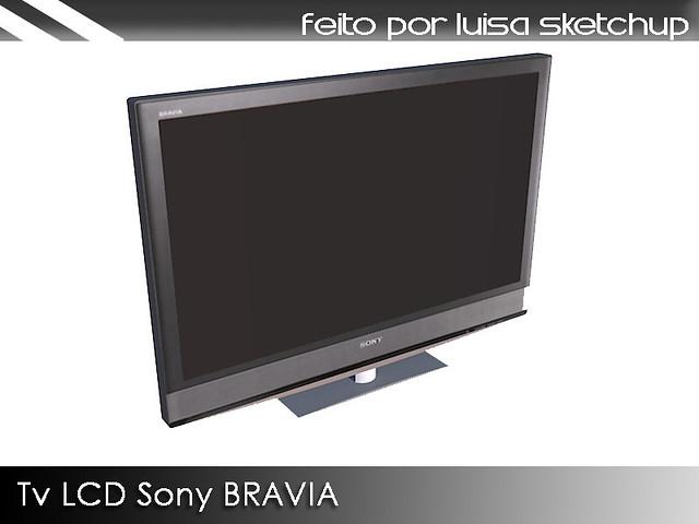 Tv LCD Sony Bravia | Link para o 3D Warehouse: sketchup goog